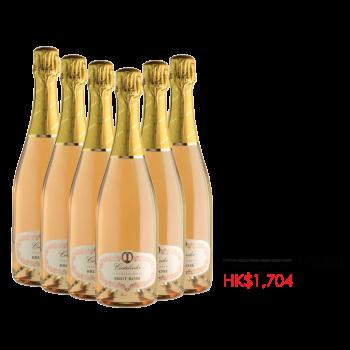 Castelveder Franciacorta Brut Rosé DOCG x 1箱 (6枝)